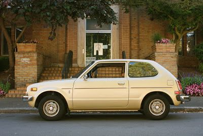 #honda #civic #1976 #hatchback This car made us a 2 car family.  Paul learned to drive on this car.  At the end we had to dry the spark plugs with a hair dryer before it would start.
