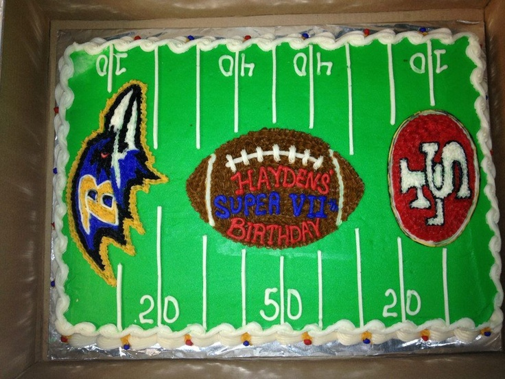 Super Bowl Cake at ISC Cherry Hill
