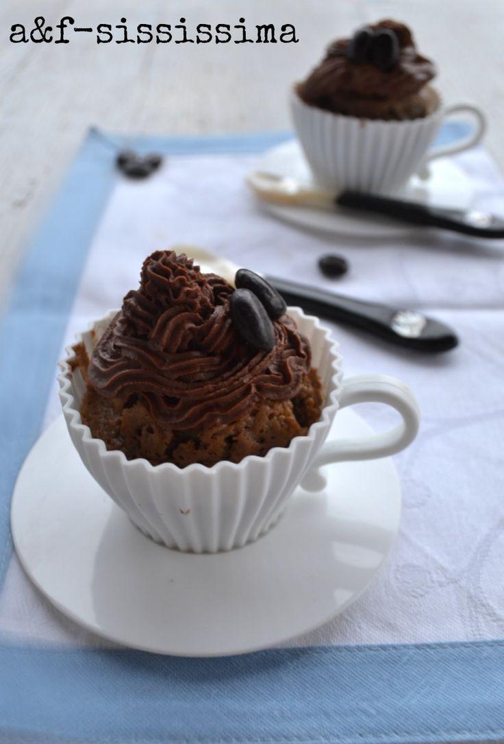 acqua e farina-sississima: cupcake al caffè con mousse al cioccolato
