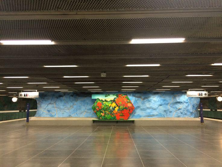 Stadion subway station in Stockholm