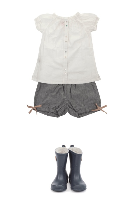 """for the shirt - use """"Toddler Shirt Dress"""" tutorial. for the shorts - use """"Puppet Show Shorts"""" pattern from Oliver & S"""