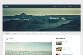 """Meeta"" is a simple blogging Wordpress theme, packed with many premium features."