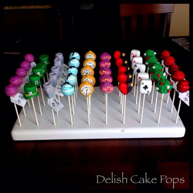 Alice in wonderland cake pops from www.facebook.com/delish.cakepops