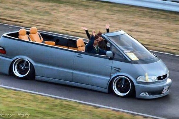 Toyota Previa Convertible Conversion... AWESOME!