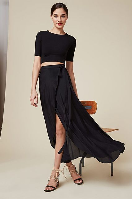 Skip The Bodycon & Try These Going-Out Clothes Instead #refinery29  http://www.refinery29.com/going-out-dresses-clothes-ideas#slide-2  For: A Wrap SkirtA wrap style is universally flattering — and just as sexy as that hip-hugging one. But we love the added movement (and sexy peek of your upper leg) that happens as you walk or dance. With a simple top, slicked-back hair, and a red lip, people may or may not think you're famous the moment you walk into a room.Reformation</strong...