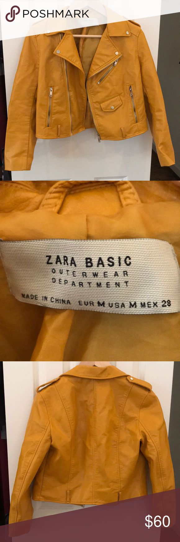 Zara Moto Jacket. Size Medium. Zara Moto Jacket. Size Medium. Faux Leather. Only worn a few times for a few hours. Great condition. Zara Jackets & Coats