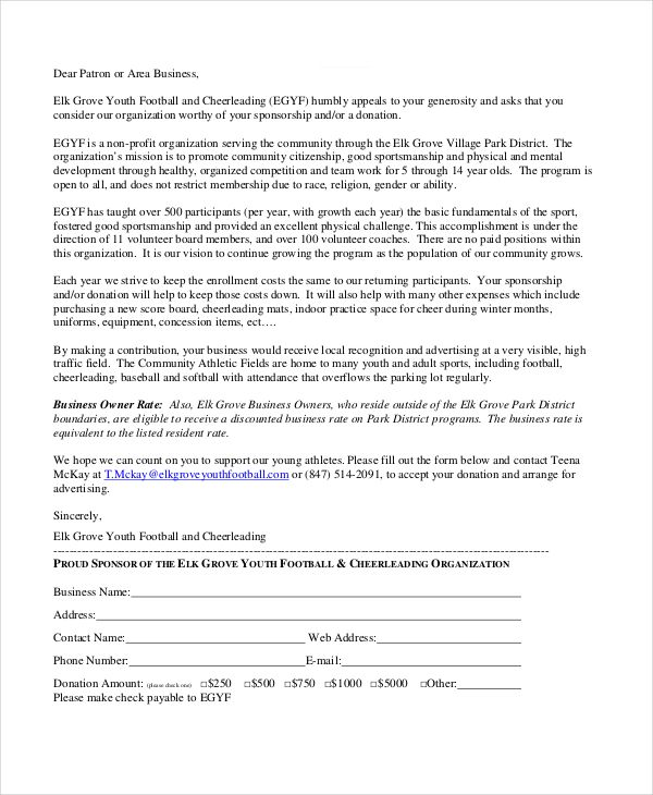 sponsorship letter example free word pdf psd documents requesting kind donations