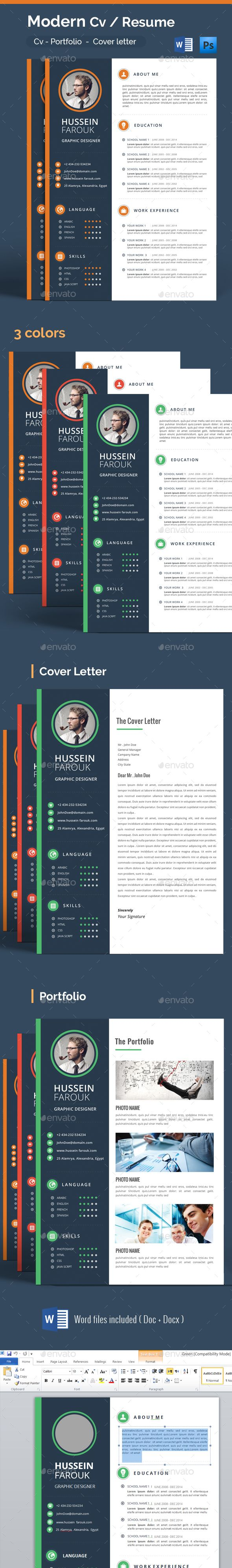 Modern Cv / Resume - Resumes Stationery