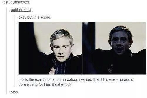 Sherlock would do anything for John.