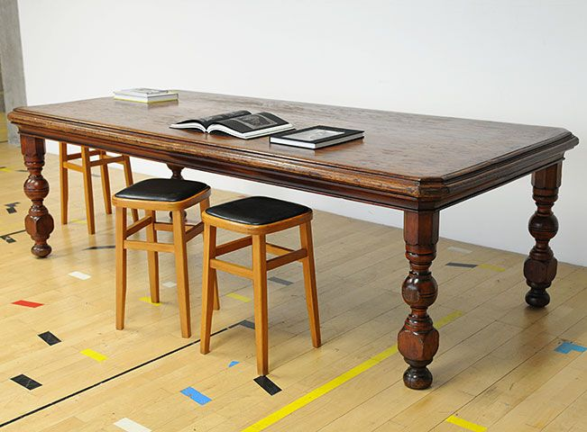 Formerly A Very Grand Meeting Room Table With Solid 2 1 Thick Top Now Some Age Related Twists And Kinks Giving It The Feel Of Piece Well Lived
