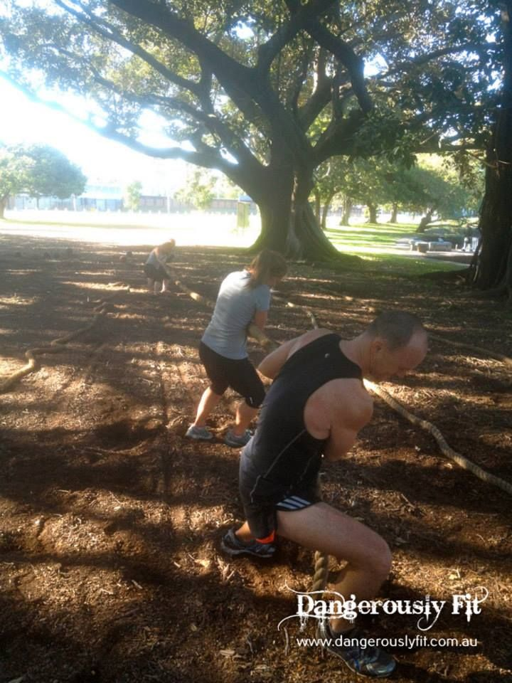 Tough Mudder Week 15! Great effort last Saturday team - solid 90 mins of strength and high intensity cardio followed by the the Kippax relay race. Well done the tankers for taking out this weeks team event - a close but well deserved victory. Last week of training this Saturday.. and then this is it! Tough Mudder is 1.5 weeks away!!  http://www.dangerouslyfit.com.au/