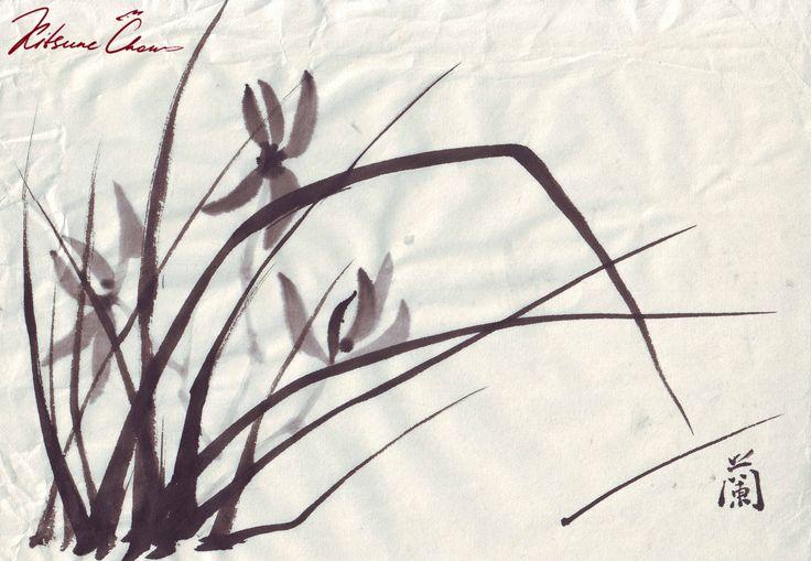 #сумиэ #японскаяживопись #графика #тушь #чернобелое #природа #япония #sumie #Japanesepaintings #ink #blackandwhite #nature #flowers #цветы #трава #grass