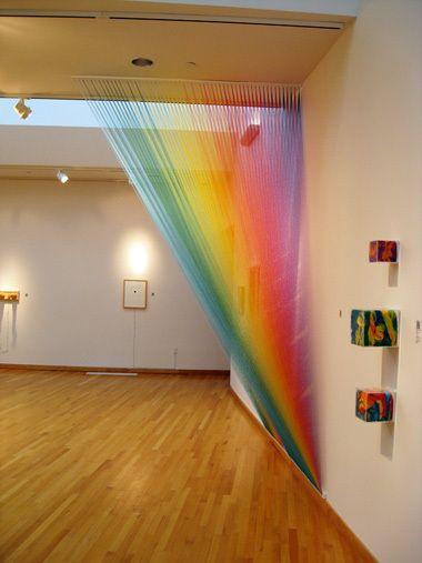 Installations by Gabriel Dawe Title: Georg Christoph Lichtenberg Related: Anne Lindberg Atley