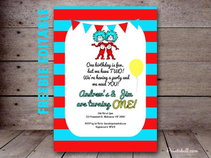 dr seuss invitations on pinterest dr seuss party ideas dr seuss