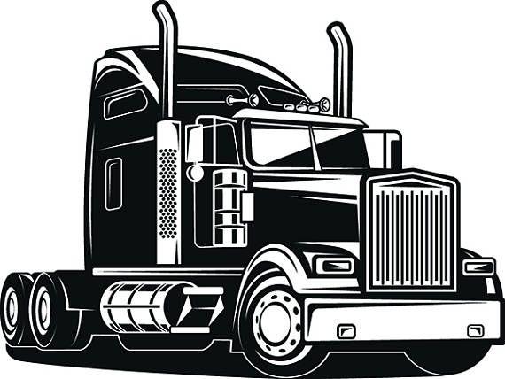 Truck Driver 1 Trucker Big Rigg 18 Wheeler Semi Tractor Trailer Cab Flat Bed Company Trucking Logo Svg Eps Png Vector Cricu Trucks Truck Design Semi Trucks