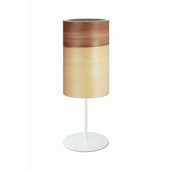Lampa stołowa FUNK 16/26T orzech satyna - średnica 16 cm.