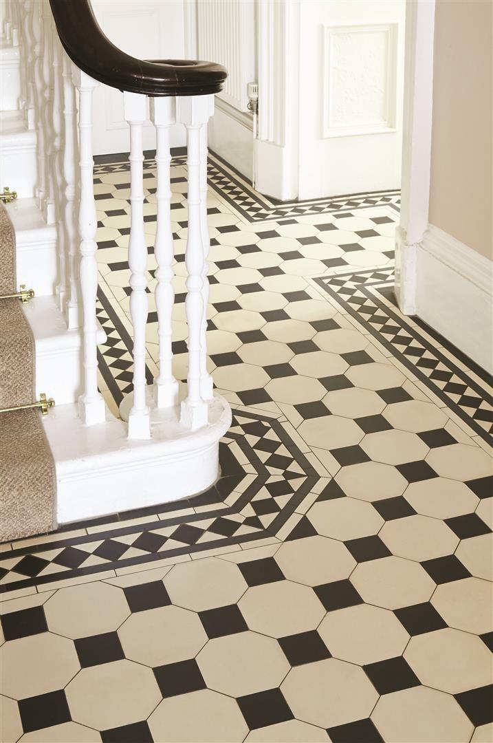 Zwart wit geblokte vloer met bijpassend kader