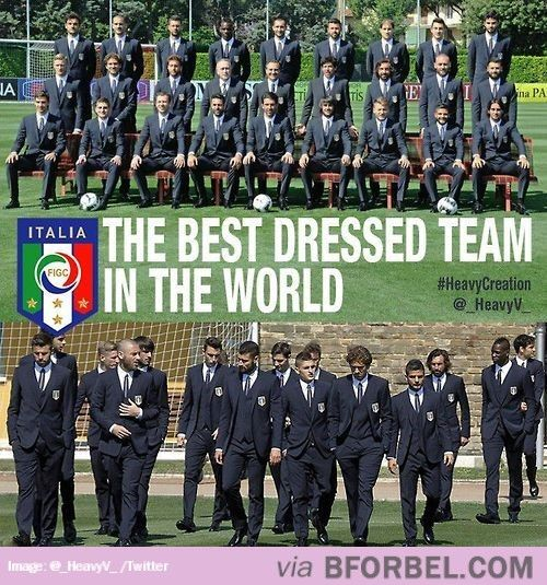 The Italian Soccer Team Cleans Up Well…