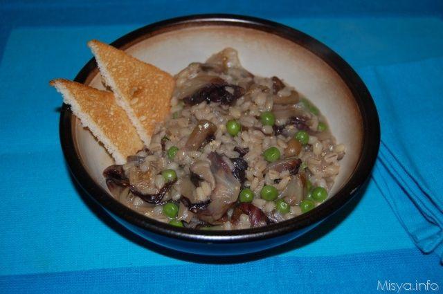 Zuppa d'orzo con funghi e piselli. Scopri la ricetta: http://www.misya.info/2012/11/06/zuppa-dorzo-con-funghi-e-piselli.htm