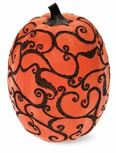 Features:  -Material: Resin.  -Holiday: Halloween.  Product Type: -Figurine.  Finish: -Orange and Black.  Holiday Theme: -Yes.  Seasonal Theme: -Yes.  Season: -Fall.  Style: -Contemporary.  Primary Ma