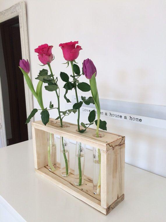 Vaso fiori porta spezie provette vetro e tappo di EcoNaturaBio