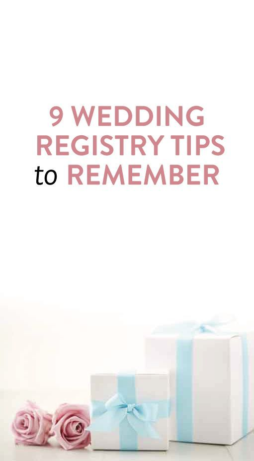 9 Wedding Registry Tips To Remember Because Creating The