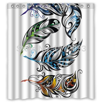 Charming Peacock Waterproof Shower Curtain