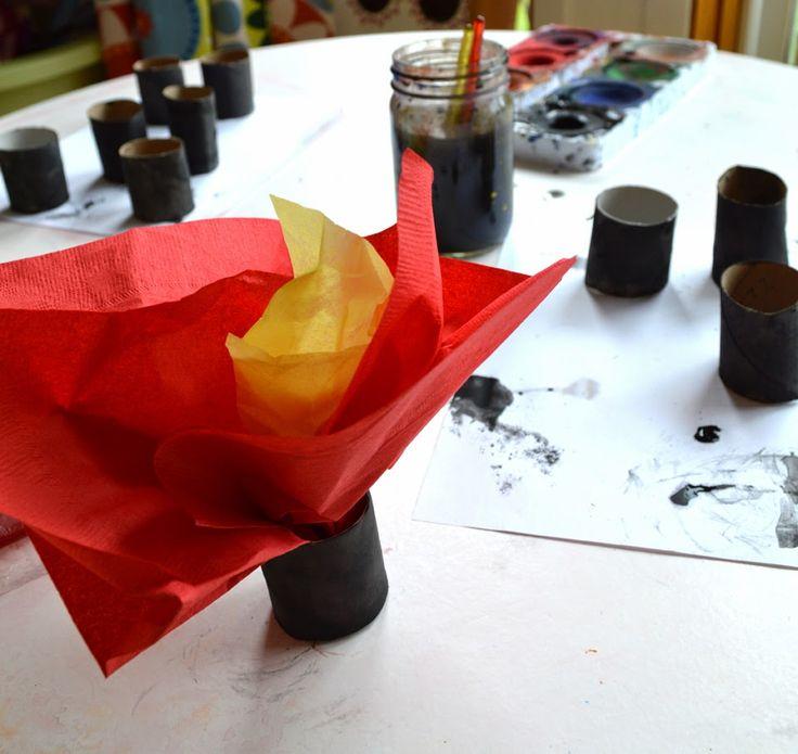 Decoration Table Pompier Flamme