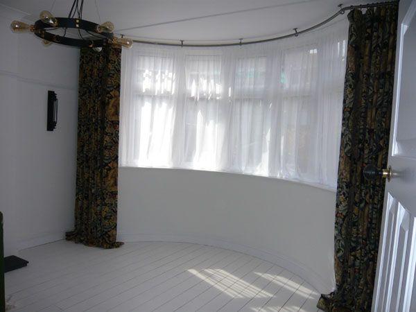 Curtain Rail For Bay Windows Styles In 2019 Bay Window