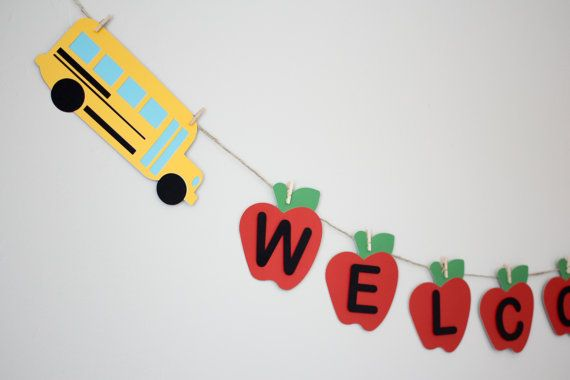 Back to School Banner/ Welcome Banner/ Bus by Pleasantviewparties