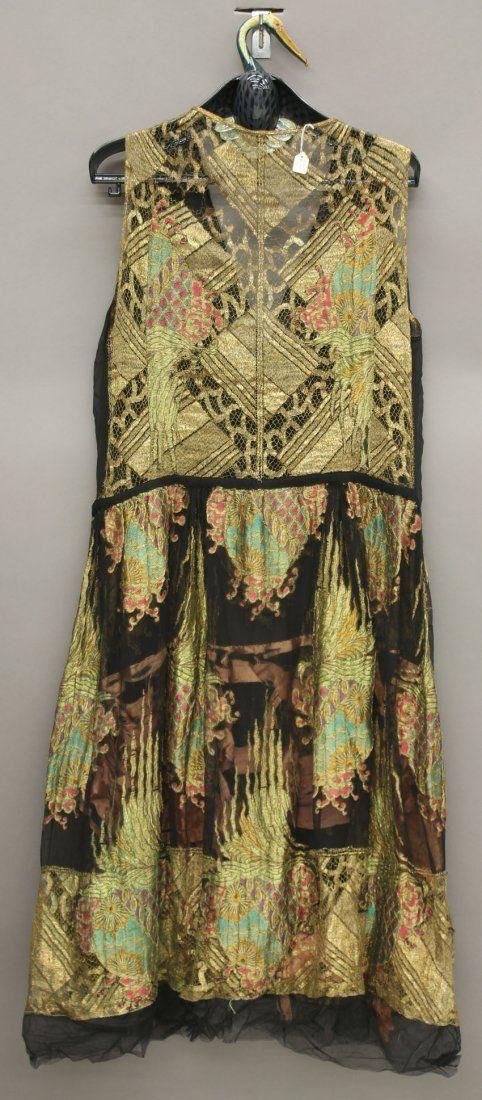 Erte evening dress, 1920s back