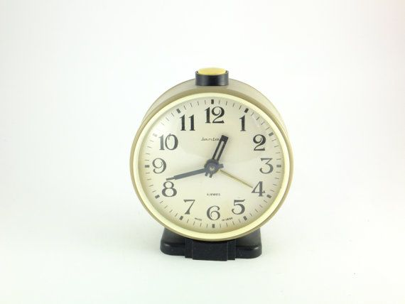 Vintage Mechanical Alarm Clock Jantar from Russia by ContesDeFees