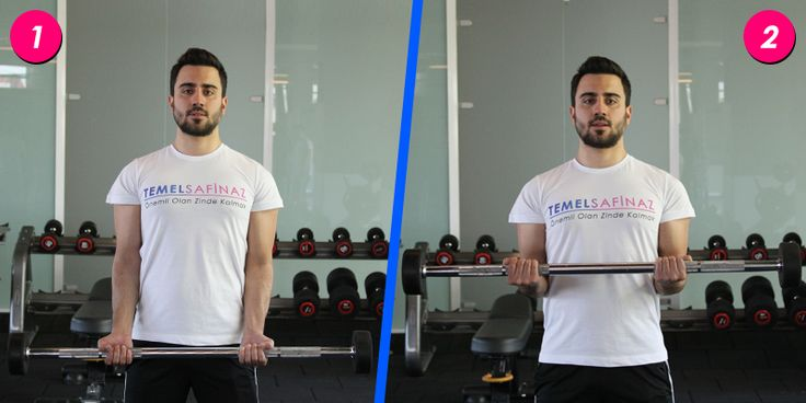 Barbell biceps curl hareketi nasıl yapılır - http://temelsafinaz.com/barbell-biceps-curl-hareketi/