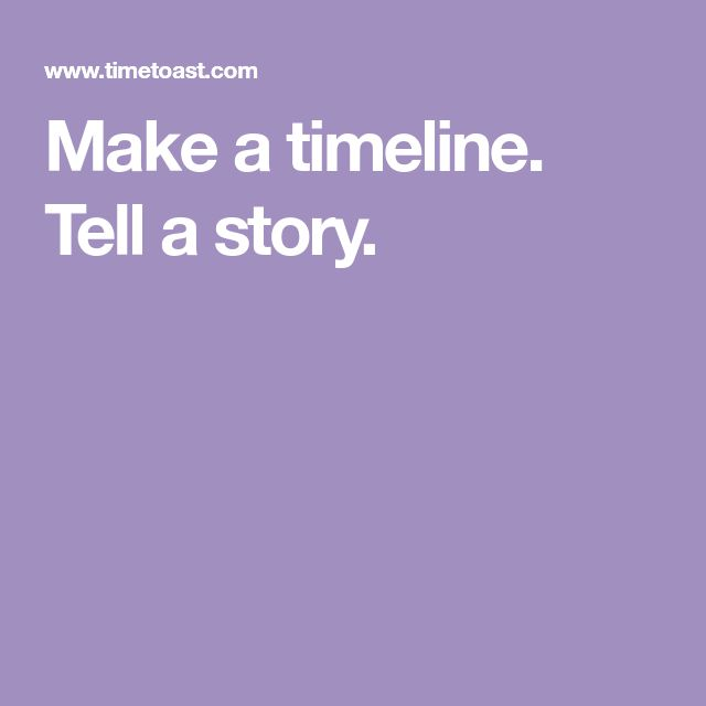 Make a timeline.  Tell a story.