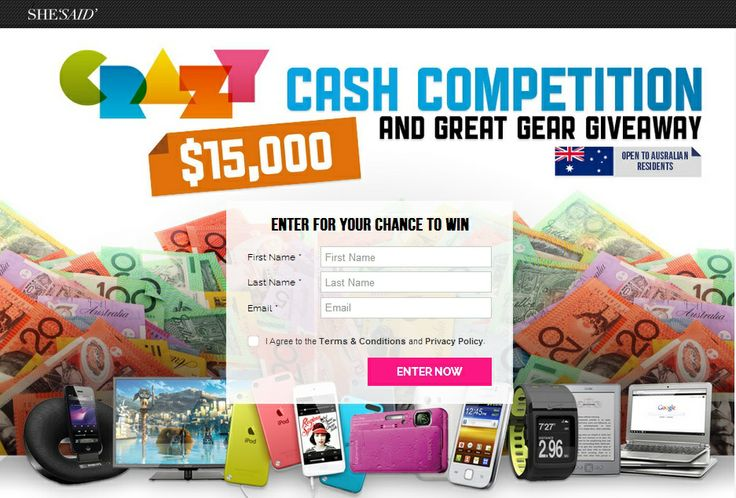 Major Prize: For the Major Prize Draw, the first eligible Entry randomly drawn from all Entries received during the Promotional Period will win AUD$15,000.00 / NZD$15,000.00 / SGD $15,000.00 cash (Major Prize), distributed in local currency of the Major Prize winner. The Major Prize will be provided to the winner via cheque, PayPal transfer or by electronic funds transfer to the winner's nominated bank account, as nominated by the winner in writing (email). #Win #Competition #Australia #NZ…