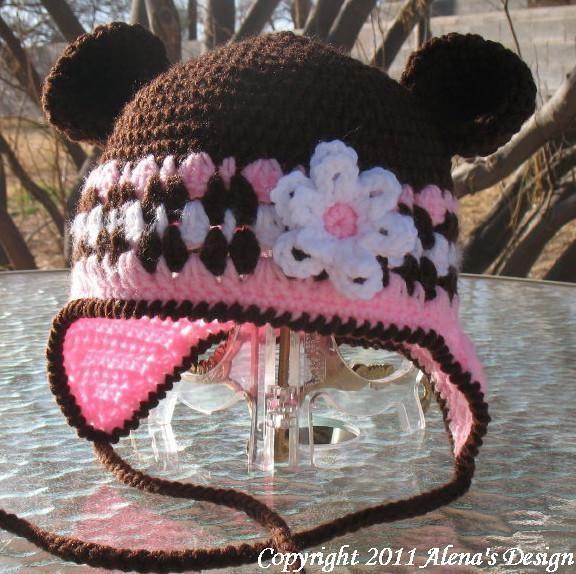 Crochet Hat with Bear Ears