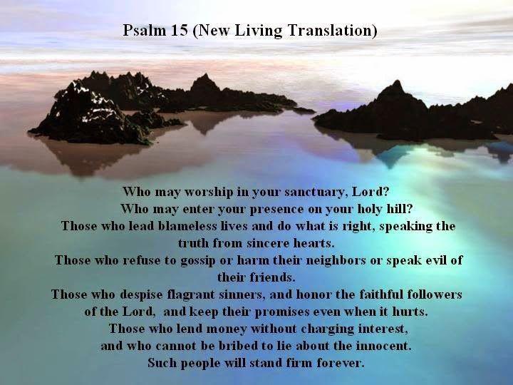†MIGHTY WARRIOR BLOG † THE POWER OF PRAYER: Psalm 15