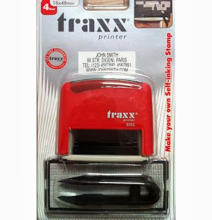 RAJ STATIONERS: Do it Yourself Stamp TRAXX SELFINK DIY KIT MAKE OUR OWN STAMP TRAXX STAMP INDIA TRAXX SELFINK OBETA  TRAXX  PRE INK TRAXX SELFINK STAMP TRAXX STAMP