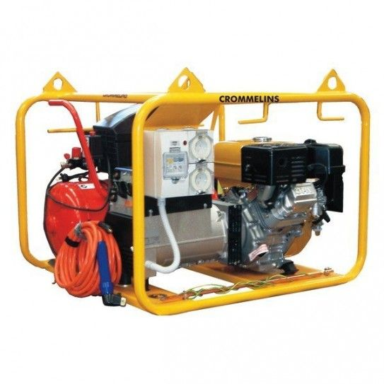 Designed for use in the workshop or as a mobile unit, the 4-in-1 welder generator is powered by a 13.5hp EH41 Subaru engine to deliver an output of 5600 watts and 60-180 amp welding capacity. The welder comes with a 5 metre welding lead and the package is complete with the 10 cfm air compressor.