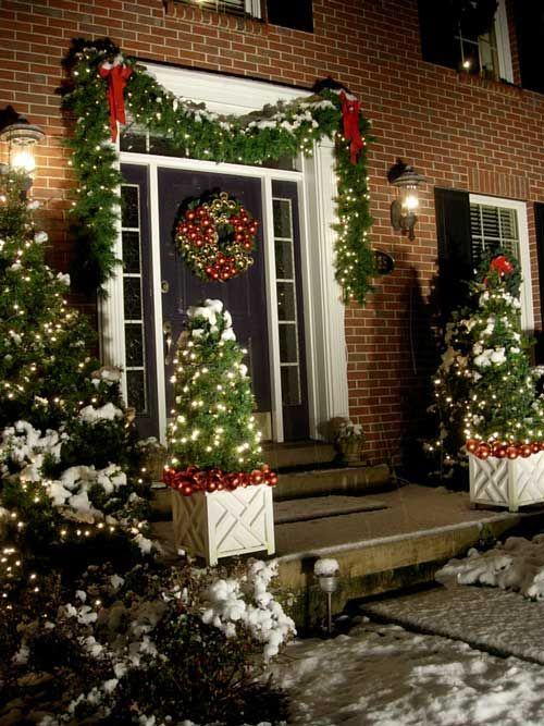 63 Best Outdoor Holiday Decorating Ideas Images On