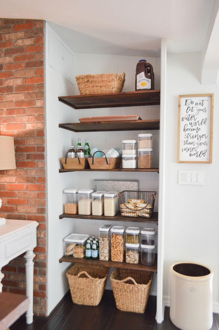 Open Pantry Makeover + Organizing Ideas Open pantry