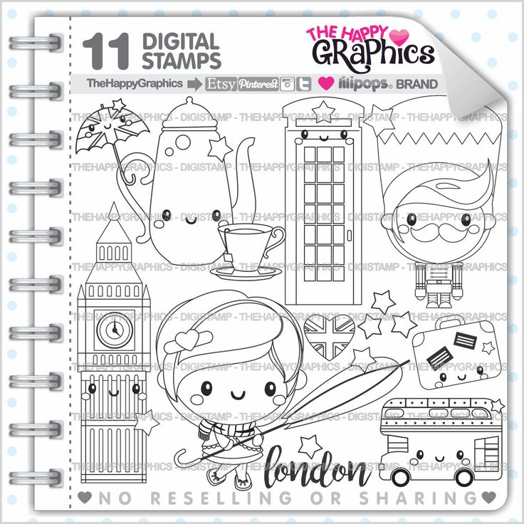 London Stamp 80OFF Commercial Use Digi Digital Image Digistamp Party Clipart City Graphic
