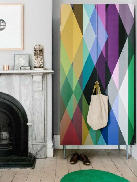 wardrobe and cole u0026 son geometric wallpaper