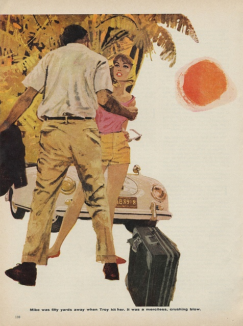 Tug of Evil - Cosmo 1960 - another amazing composition by Bernie Fuchs.