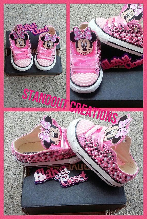 Inspired Minnie Mouse Converse by Alaiyacloset on Etsy