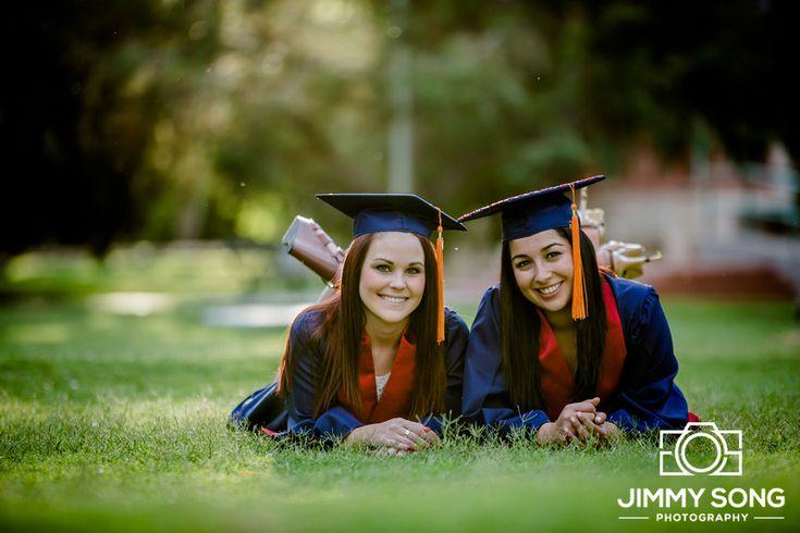 University of Arizona Senior Graduation Grad Photo Portraits Idea Fun Smile Happy Sorority Dress Pose Cap Gown laying grass