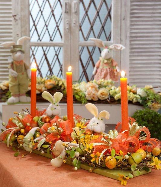 Decoração de mesa para a Páscoa 1