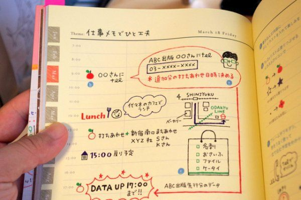 チラっと覗き見♡今どき女子から盗むスケジュール帳の可愛い書き方♪ | ギャザリー