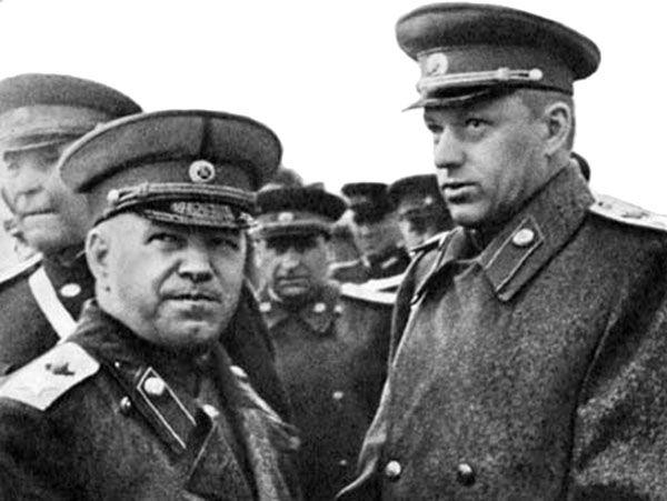 Georgy Zhukov and Konstantin Rokossovsky.