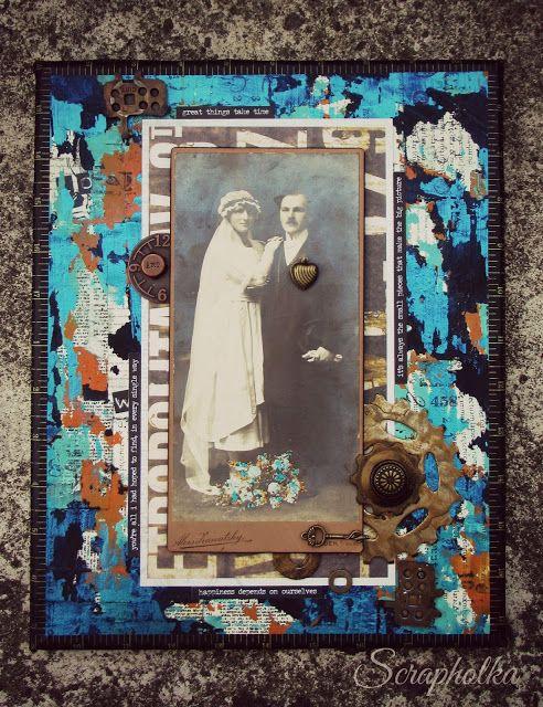 Scrapholka: Canvas for Papero amo